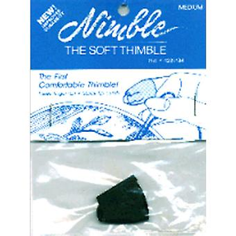 Leather Nimble Thimble With Metal Tip Medium Nt M