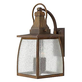 Montauk Traditional Outdoor Large Wall Lantern Solid Brass