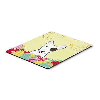 Bull Terrier Easter Egg Hunt Mouse Pad, Hot Pad or Trivet BB1891MP