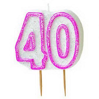 40TH BIRTHDAY BLACK CANDLE