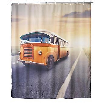 Wenko shower curtain  vintage bus anti-mould (Bathroom accessories , Bathroom curtains)