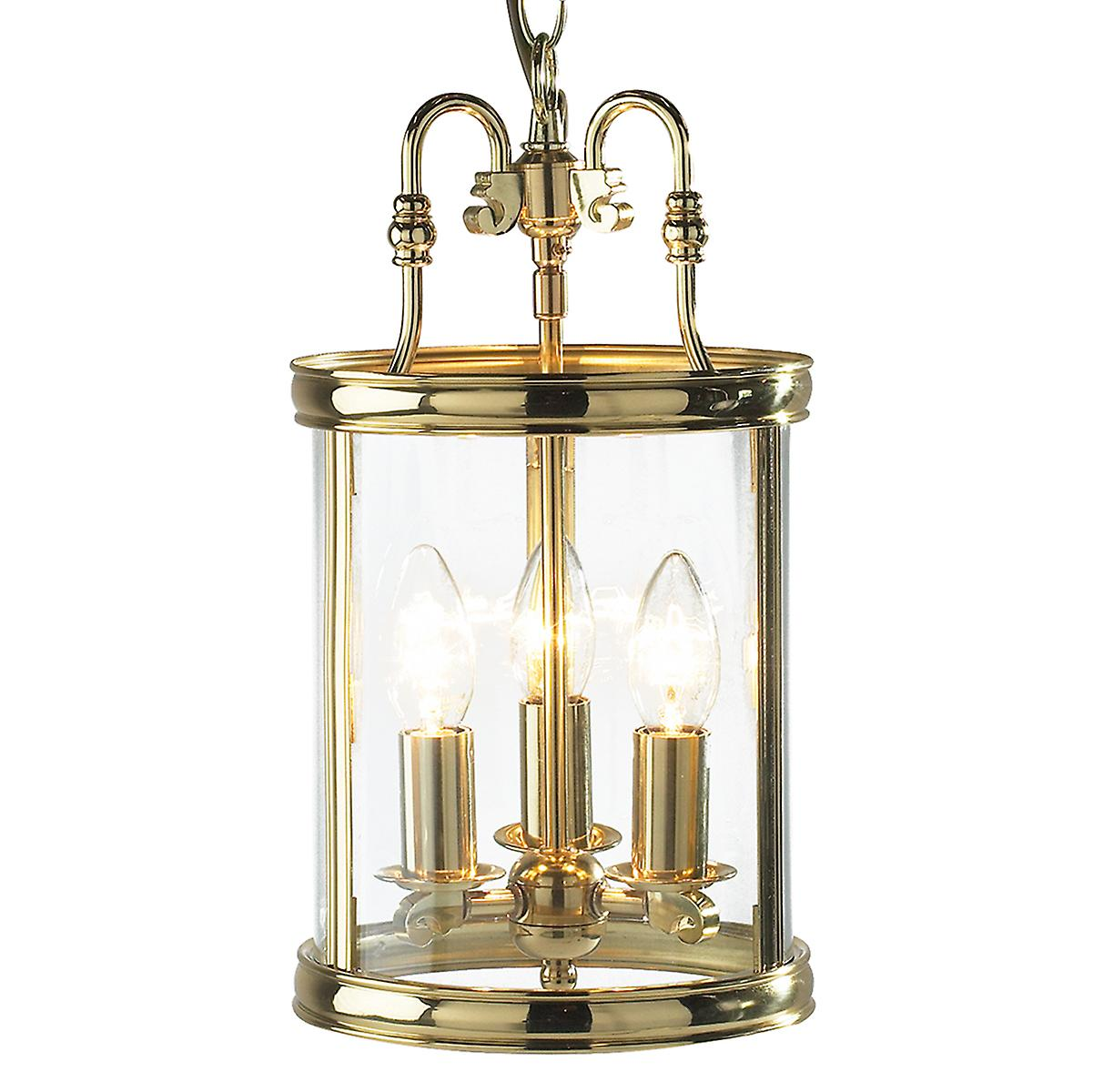 Dar LAM0340 Lambeth Indoor Hall Lantern Pendant Dual Mount