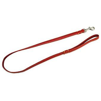 Arquivet leash leather red 2 X 120 Cm (dogs, equipment, leashes)