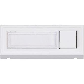Panel de Bell con placa 1 x Heidemann 70511 blanco 24 V/1 un
