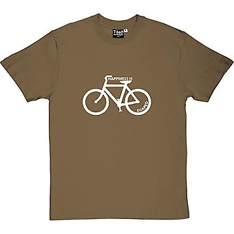 Happiness is Bicycle Shaped Men's T-Shirt