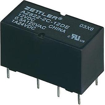 PCB relays 3 Vdc 2 A 2 change-overs Zettler Electronics 1 pc(s)