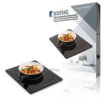 König Induction plate 2000 W, touch control, slim line