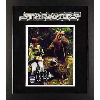 Star Wars - Signed Carrie Fisher Princess Leia Photo - Framed Artist Series