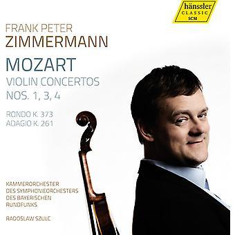 Mozart / Zimmermann / Szulc - Violin ulemper 1 3 & 4 [CD] USA import