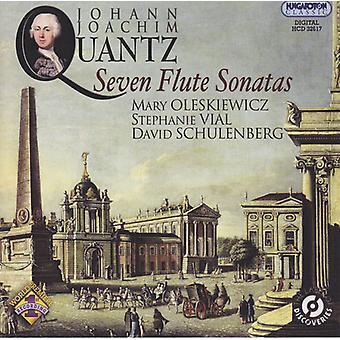 Quantz / Oleskiwicz / Vial / Schulenberg - siete Sonatas flauta [CD] USA importación