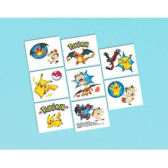 Pokemon Pikachu and Friends Party Favor Tattoos