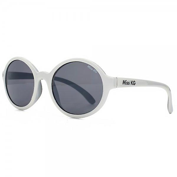 Miss KG Plastic Round Sunglasses In White On Black