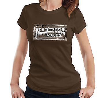Mariposa Saloon Sweetwater Westworld White Women's T-Shirt