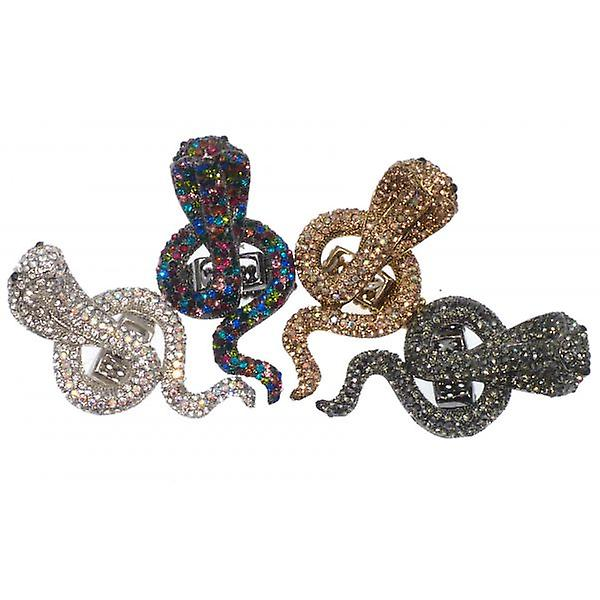 W.A.T glitrende Multi farget Crystal Cobra Ring