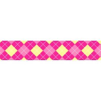 Tuff Lock Halsbänder mittlere Argyle Pink
