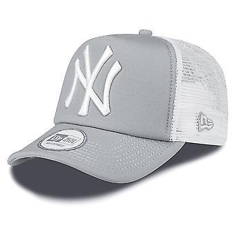 New Era NY Yankees nettoyer un cadre Trucker Cap - gris