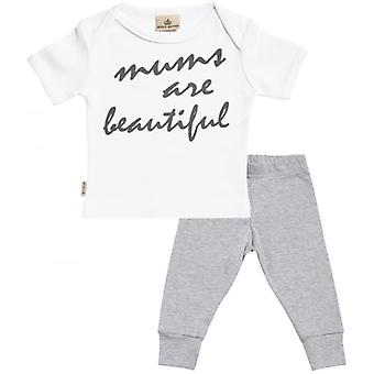 Spoilt Rotten Mum's Are Beautiful T-Shirt & Jersey Trousers Outfit Set