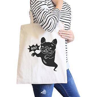 Boo French Bulldog Tote Bag For Halloween Eco-Friendly Reusable Bag