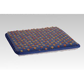 Chair cushions seat cushion square blue colored 2-Pack 37 x 40 cm