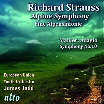 Strauss / Mahler / European Union Youth Orchestra - Eine Alpensinfonie / Adagio From Symphony No. 10 [CD] USA import