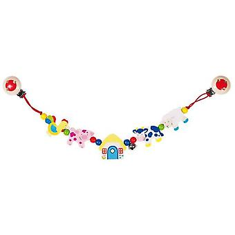 Goki Pram chain farm animals with clips