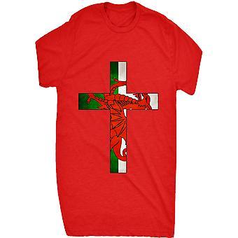 Renowned Welsh Flag Inside Cross