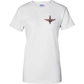 British Army spadochron pułku Grunge insygnia - Panie piersi Design T-Shirt