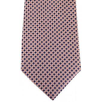 David Van Hagen Checked Tie - White/Pink/Blue