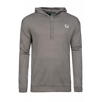 Sweet SKTBS daily men's long-sleeved gray pullover with hood