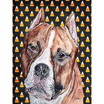 Staffordshire Bull Terrier Staffie Candy Corn Halloween bandiera giardino dimensioni
