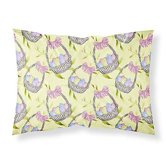 Easter Basket and Eggs Fabric Standard Pillowcase