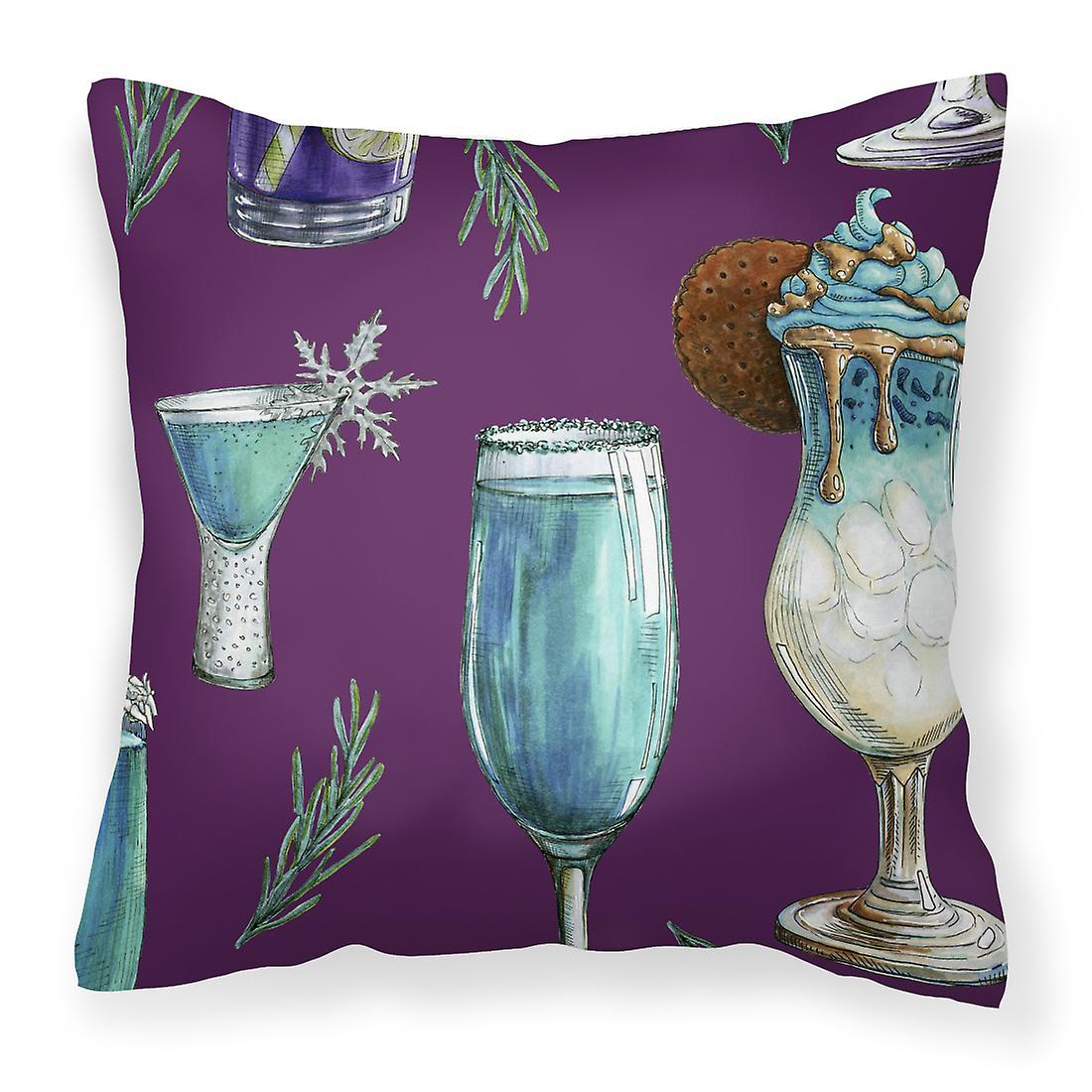 Oreiller Boissons Et Tissu Violet Décoratif Cocktails TcFKJ3l1