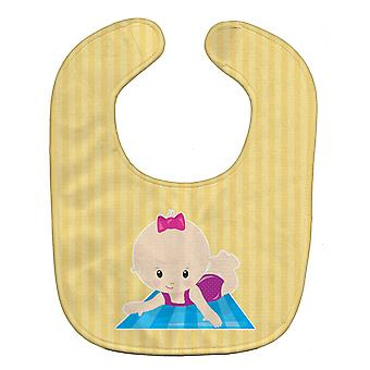 Carolines Treasures  BB8657BIB Beach Baby Girl on Mat Baby Bib