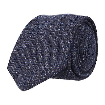 OTTO KERN narrow tie Club tie Navy Blue 6.5 cm