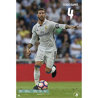Real Madrid 2016-2017 Sergio Ramos Action Poster Poster Print