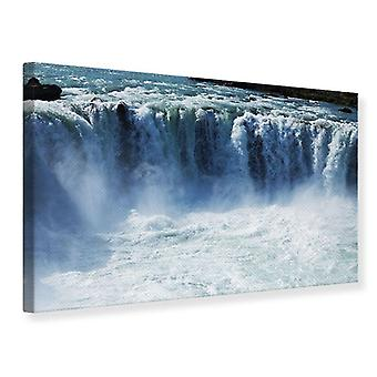 Canvas Print machtige waterval