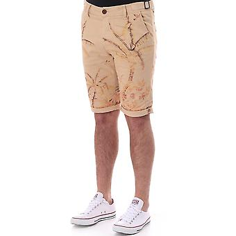 Pearly King Slim Fit Short With Palm Tree Print