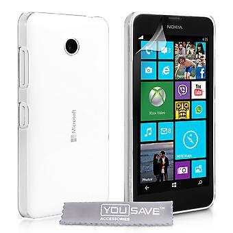Yousave tillbehör Microsoft Lumia 532 Hard Case - kristallklart