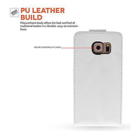 Yousave akcesoria Samsung Galaxy S6 skóry efekt z klapką - biały
