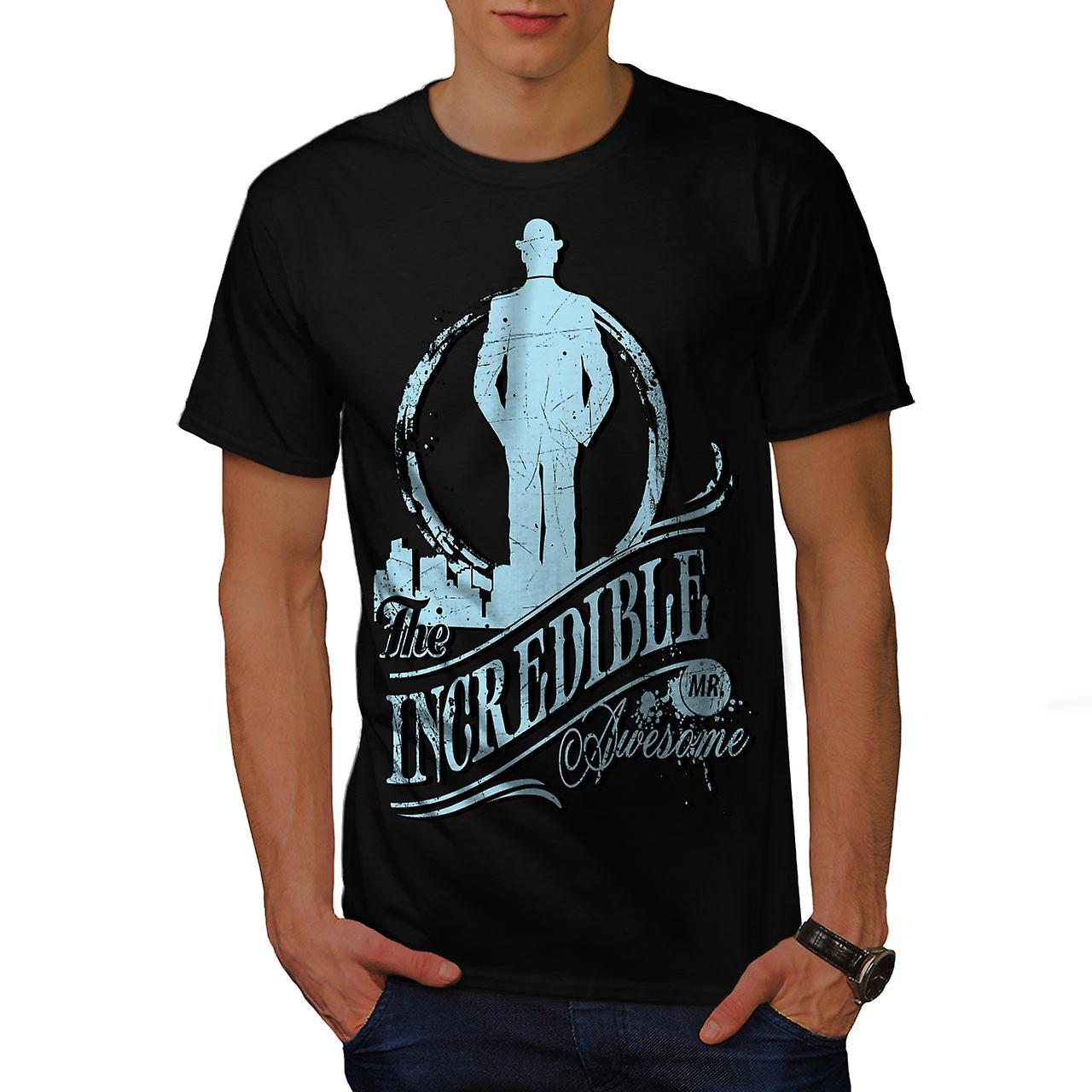 Incredible Awesome Slogan Men Black T-shirt | Wellcoda