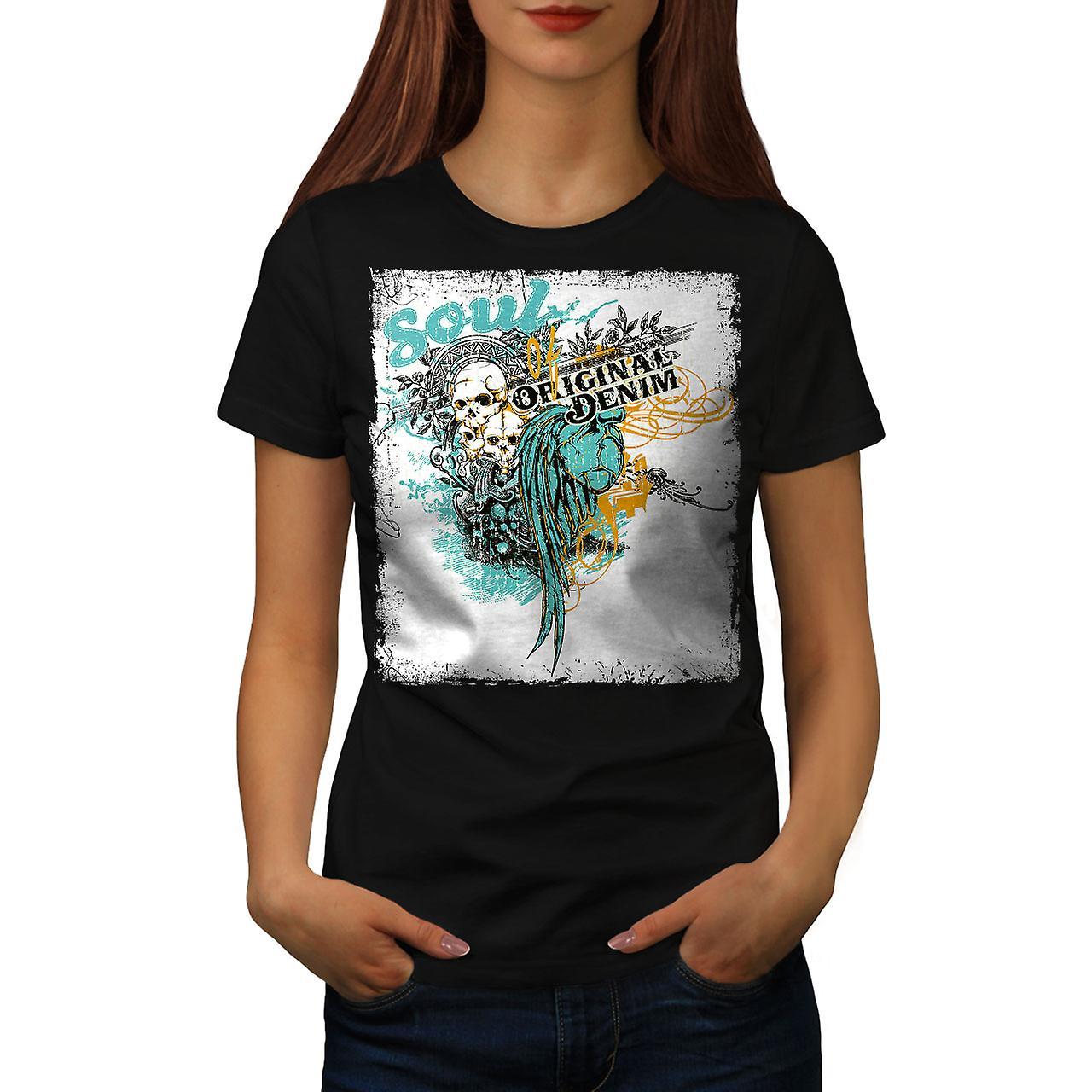 Original Art Dead Fashion Women Black T-shirt | Wellcoda