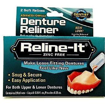 D.O.C. Reline-It, avancée prothèse Reliner 2 répare 2 Box Pack