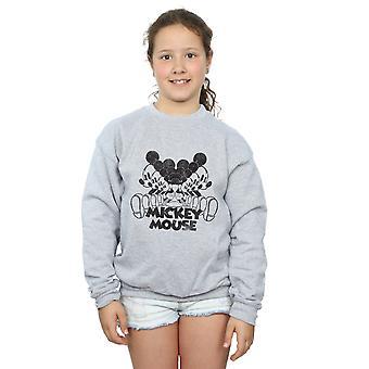 Disney Girls Mickey Mouse Mirrored Sweatshirt