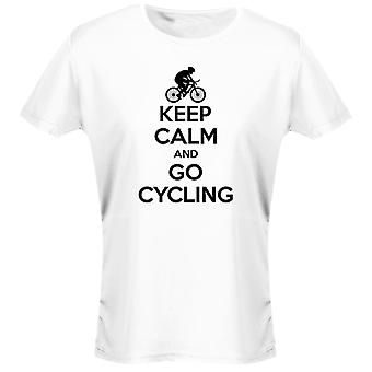 Keep Calm And Go Cycling Womens T-Shirt 8 Colours (8-20) by swagwear
