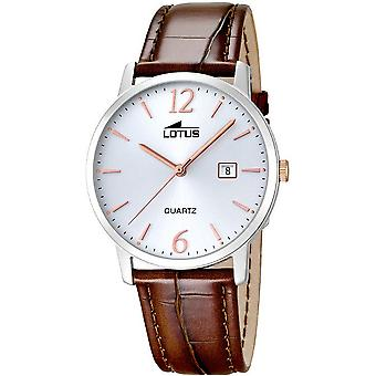 Lotus mens watch classic leather belt classic 18239/4