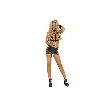 Elegant Moments EM-L1143 2 PC set Leather harness & skirt Also plus size