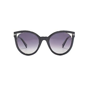 Polaroid Cut Out Cateye Sunglasses In Black Polarised