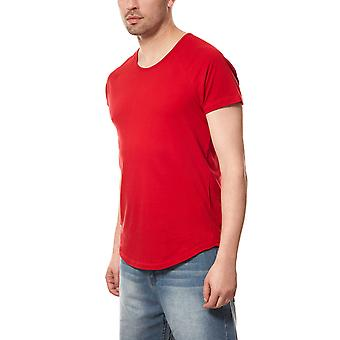 T-Shirt rouge Spartiates histoire base ovale chemise homme