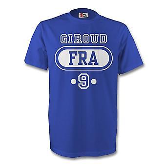 Olivier Giroud Frankrike Fra T-shirt (blå)