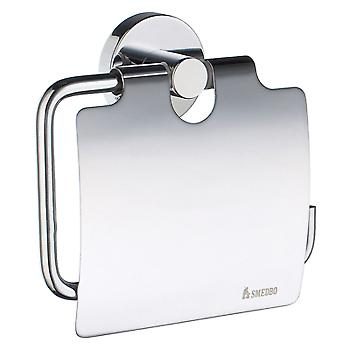 Home Toilet Roll Holder With Lid - Polished Chrome HK3414